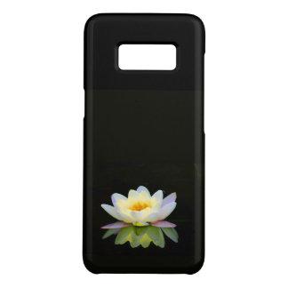 SAMSUNG S8 - WHITE LOTUS ON BLACK-change ur style Case-Mate Samsung Galaxy S8 Case