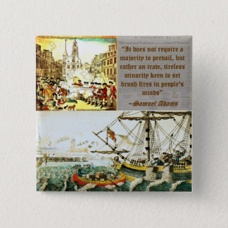 Samuel Adams 2 Inch Square Button