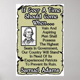 Samuel Adams: Experienced Patriots Poster