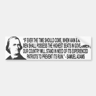 Samuel Adams Quote Bumper Sticker