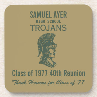 Samuel Ayer 40th Class Reunion Momento Coaster