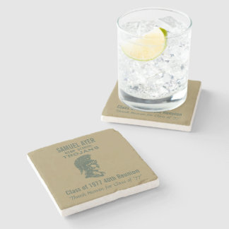 Samuel Ayer 40th Class Reunion Momento Stone Beverage Coaster