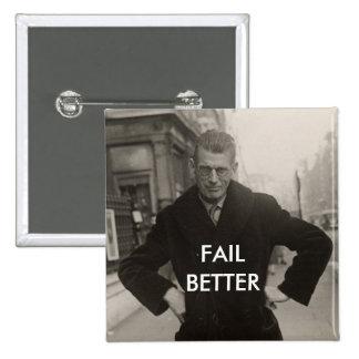 Samuel Beckett - Fail Better 2 Inch Square Button
