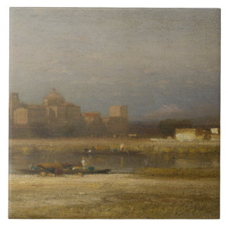 Samuel Colman - On the Viga, Outskirts of the City Tile