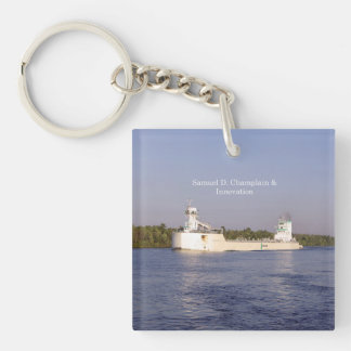 Samuel D. Champlain & Innovation acrylic key chain