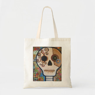 """Samuel"" Day of the Dead Skull Tote Bag"