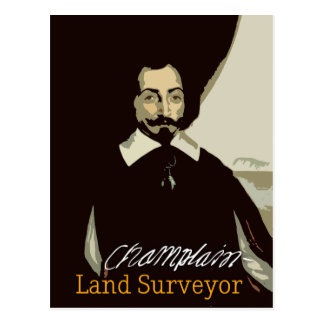Samuel de Champlain Land Surveyor Postcard
