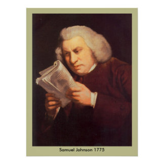 Samuel Johnson - Reading Poster