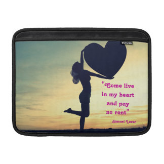 Samuel Lover quote heart love inspiration Sleeves For MacBook Air