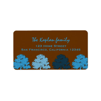 Samuel Lucas Wedding Bar Mitzvah Blue Trees Label
