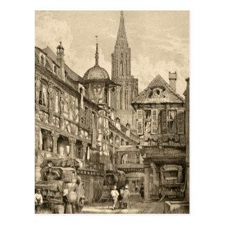 Samuel Prout Strasbourg Street Scene Vintage 1915 Postcard