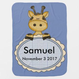 Samuel's Personalized Giraffe Baby Blanket