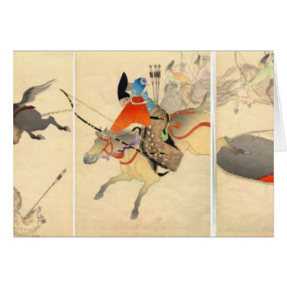 Samurai Archer Hunting Greeting Card