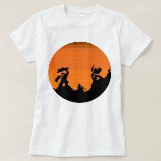 Samurai at sunset T-Shirt