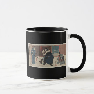 Samurai Attacking Enemy circa 1848 Japan Mug