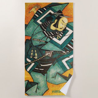 Samurai beach towel