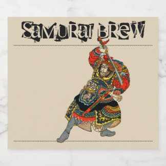 Samurai Brew Beer Bottle Label