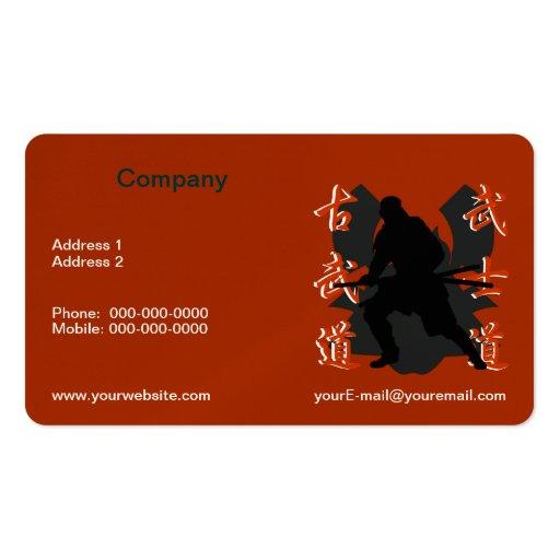 Samurai Business Card