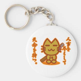 Samurai cat keychain