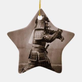 Samurai Ceramic Star Ornament
