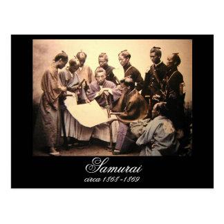 Samurai circa 1868-1869 postcard