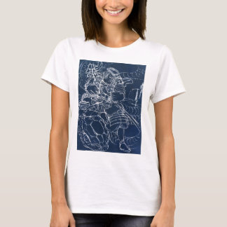 Samurai defeating serpent c. 1800's T-Shirt