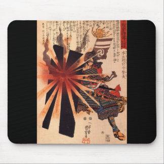 Samurai defending against exploding shell mouse pad