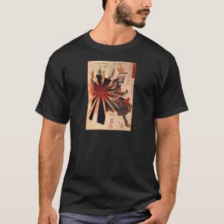Samurai defending against exploding shell T-Shirt