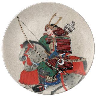 Samurai Eastern Japanese Porcelain Plates