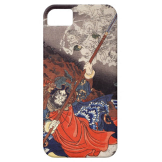 Samurai Fighting Demons iPhone 5 Covers