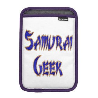 Samurai Geek Blue iPad Mini Sleeve