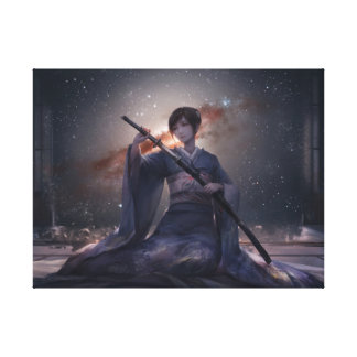 Samurai Girl Canvas Print