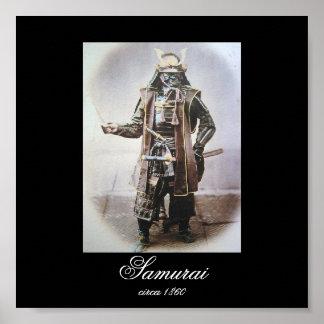 Samurai in Armour circa 1860 (Photo) Poster