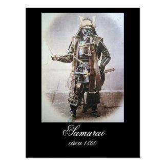 Samurai in Armour circa 1860 Postcard
