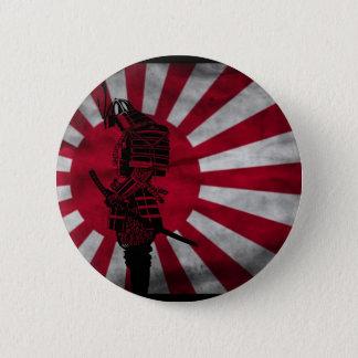 Samurai Japanese flag 2 Inch Round Button