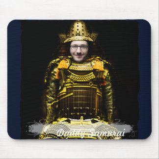 Samurai Japanese Warrior - insert YOUR Photo & Tex Mouse Pad