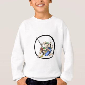 Samurai Jui Jitsu Judo Fighting Enso Tattoo Sweatshirt