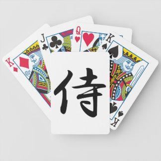 Samurai Kanji Symbol Bicycle Playing Cards
