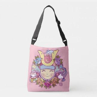 samurai kawaii girl crossbody bag