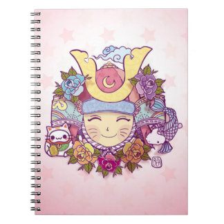 samurai kawaii girl notebook