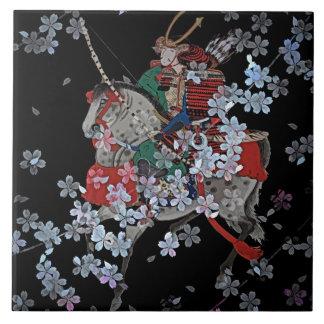 """Samurai Large (6"""" X 6"""") Ceramic Photo Tile"""