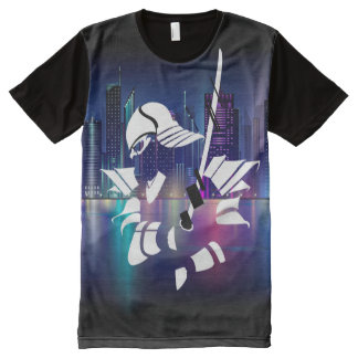 Samurai Liquid Swords City All-Over-Print T-Shirt