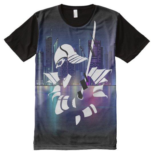 Samurai Liquid Swords City All-Over-Print T-Shirt