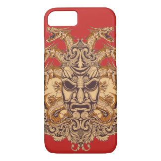 Samurai Mask Glossy Phone Case