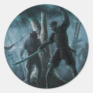 Samurai Mystique Classic Round Sticker