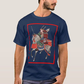 samurai on horse back T-Shirt
