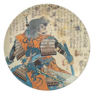 Samurai Orenji Party Plate