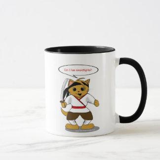 Samurai Security Cat Mug