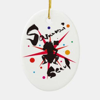 Samurai Seoul Ceramic Ornament
