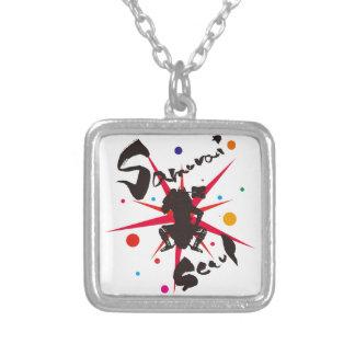 Samurai Seoul Silver Plated Necklace